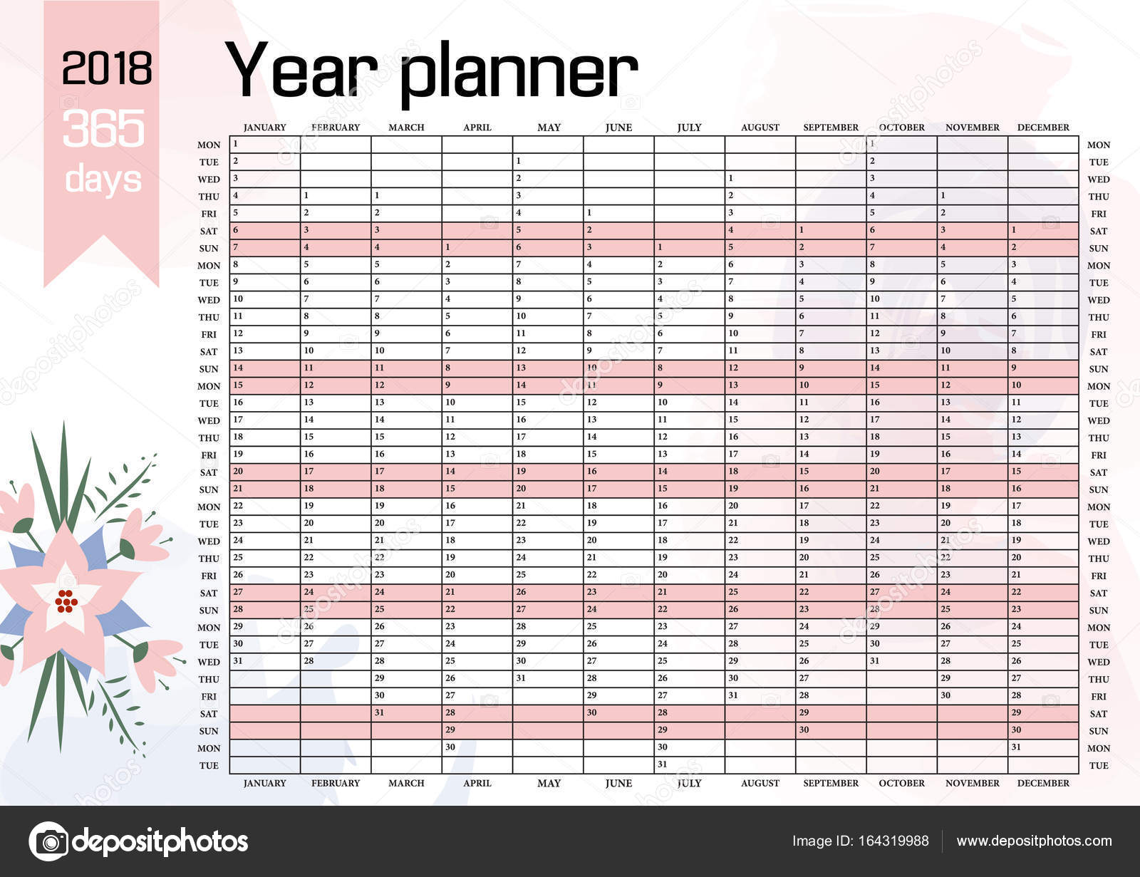 Three Year Calendar Planner : Year planner template images yearly