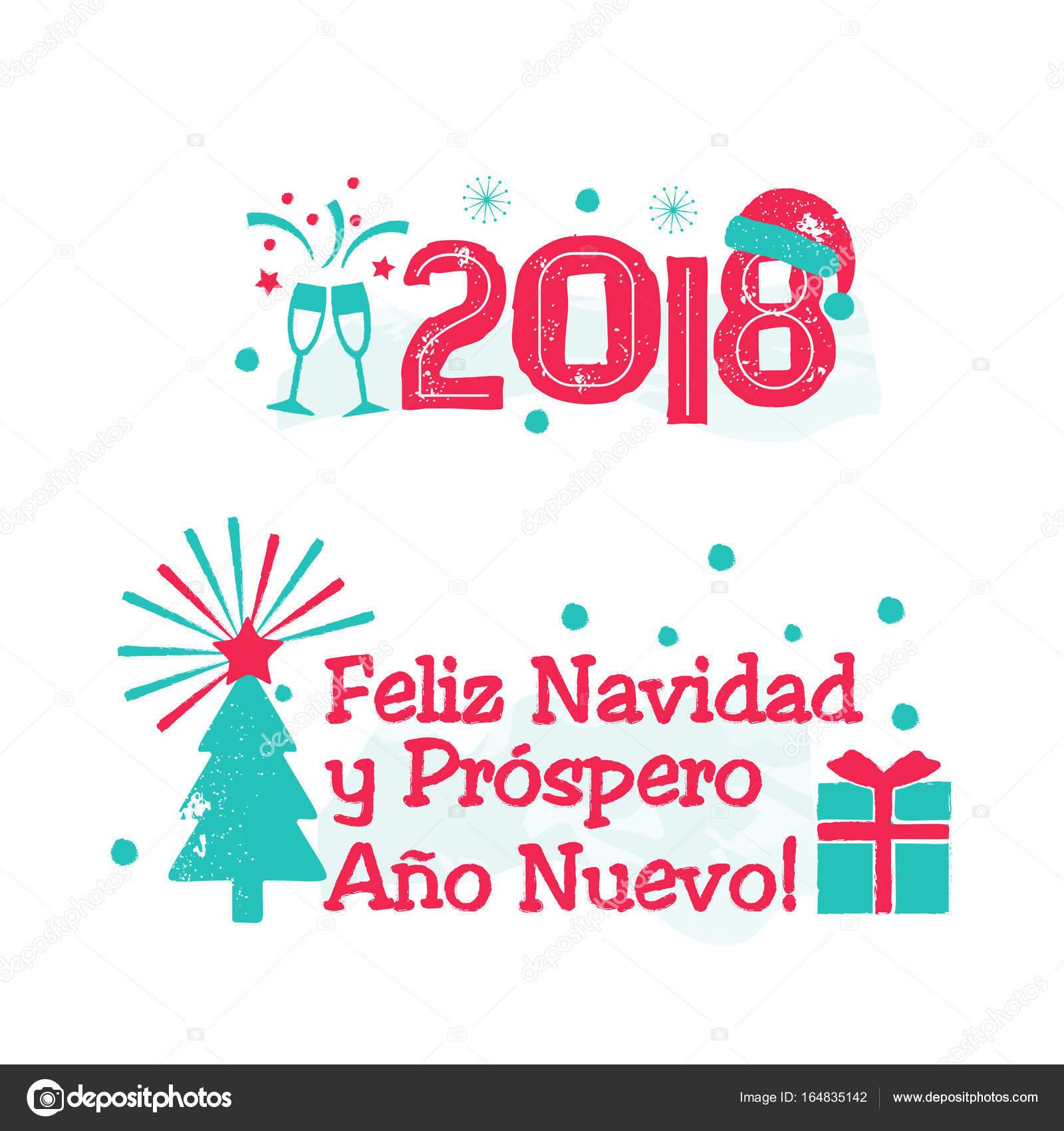 feliz navidad merry christmas spanish language stock vector
