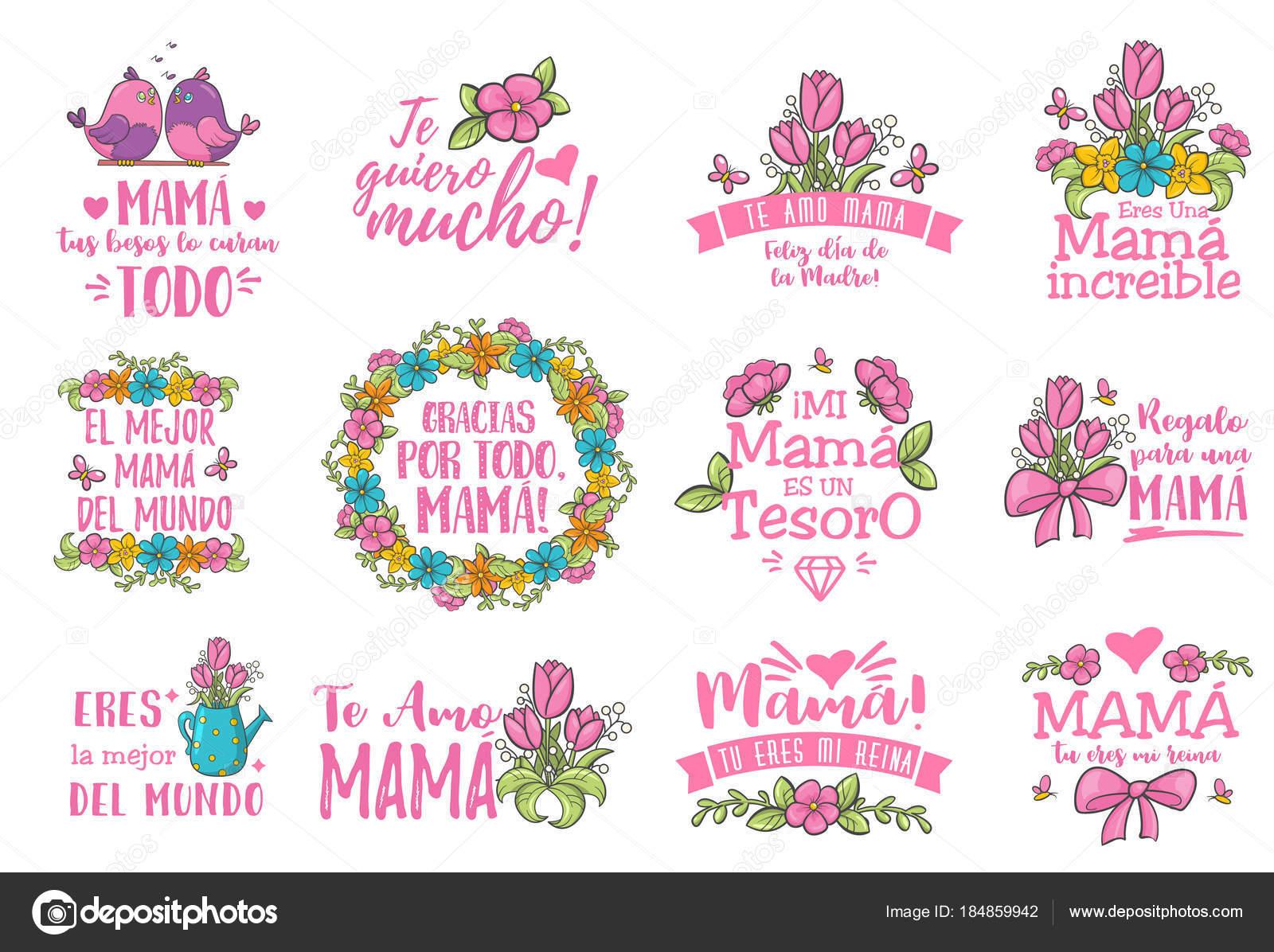 809145064f6c1 Saudação de dia de mãe espanhola. Mensagem de floral doce com desejos de  felizes e dia mamãe obrigado, cartão para expressar gratidão, amor e  reverência de ...