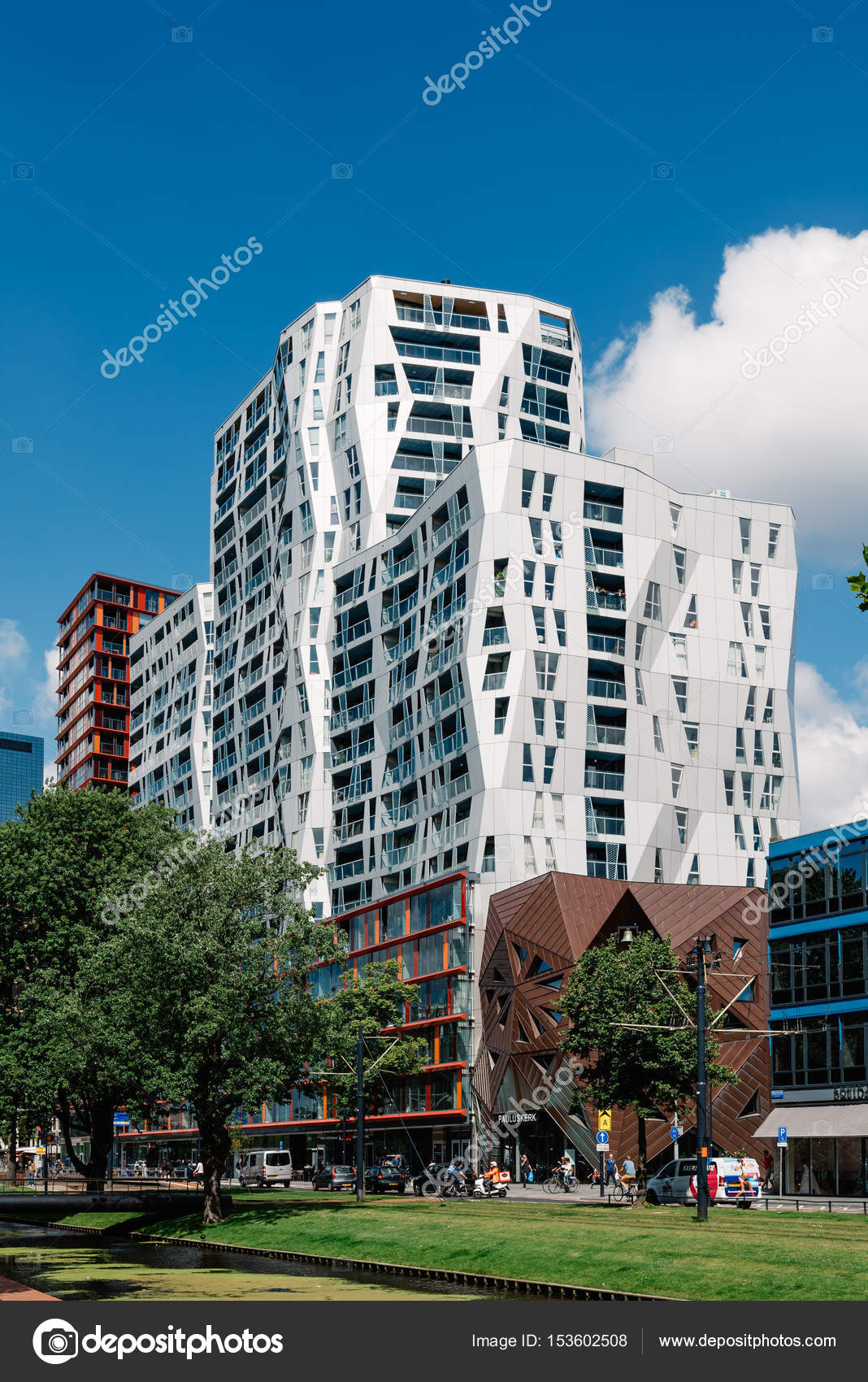 Modern Architecture Residential Buildings Stock Photo 153602508