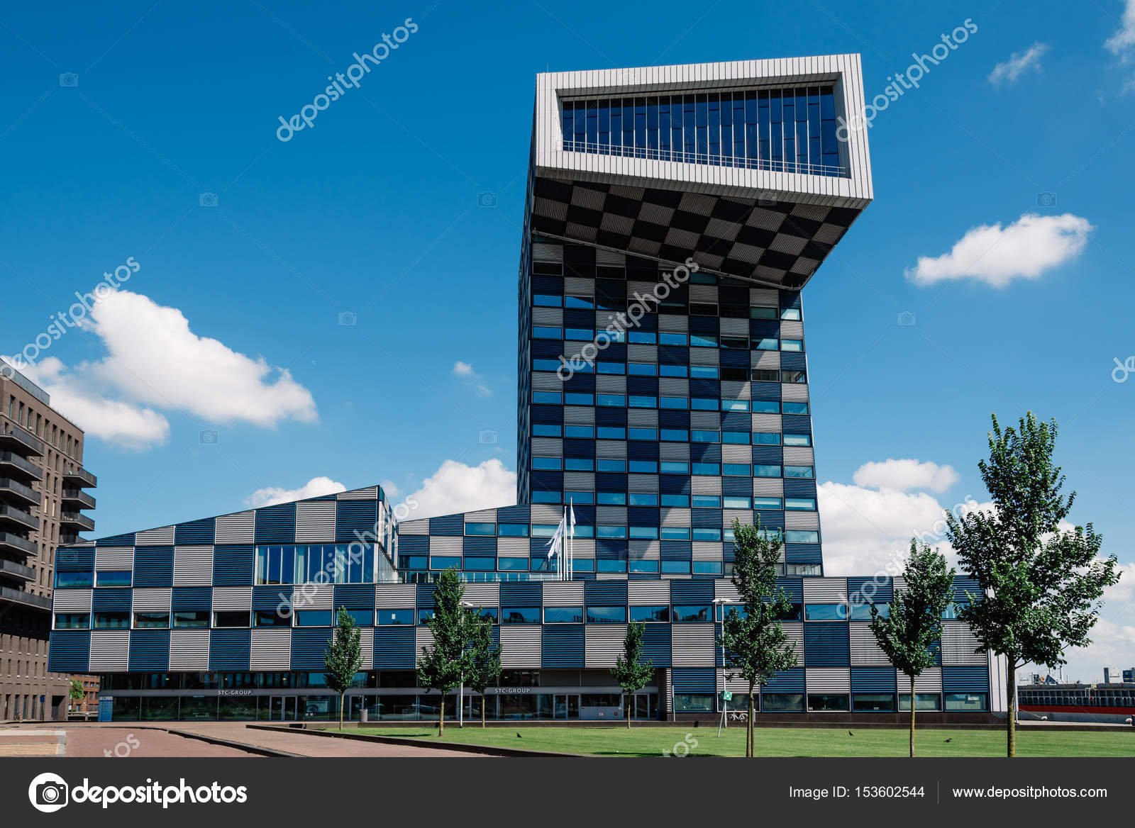 Modern Architecture Office Building In Rotterdam Stock Editorial