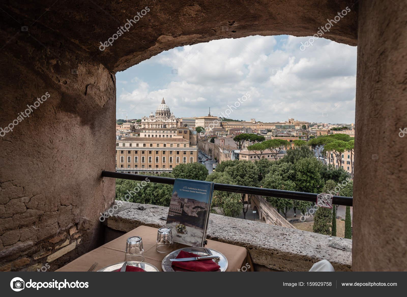 Gerahmte Blick des Vatikan und St. Peters Dom Castel Sant Ange ...