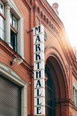 View of Markthalle Neun, a historical market with street food in Kreuzberg borough in Berlin