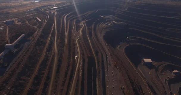 Obrovský železná ruda lomu železná ruda lomu letecký pohled shora.