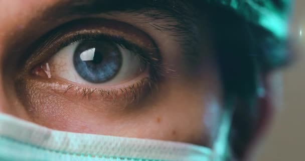 Blue Eye of a surgical doctor or nurse