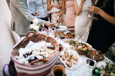 guests at wedding celebration