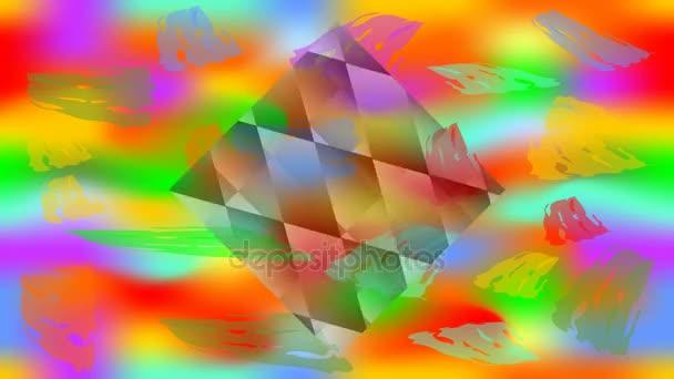 Video na pozadí Happy holi s animovaným kostky na živé barevné plátně