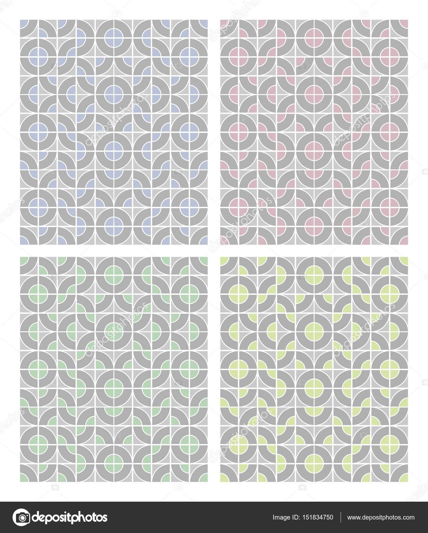 Semplici Disegni Geometrici In Colori Pastello Chiari In