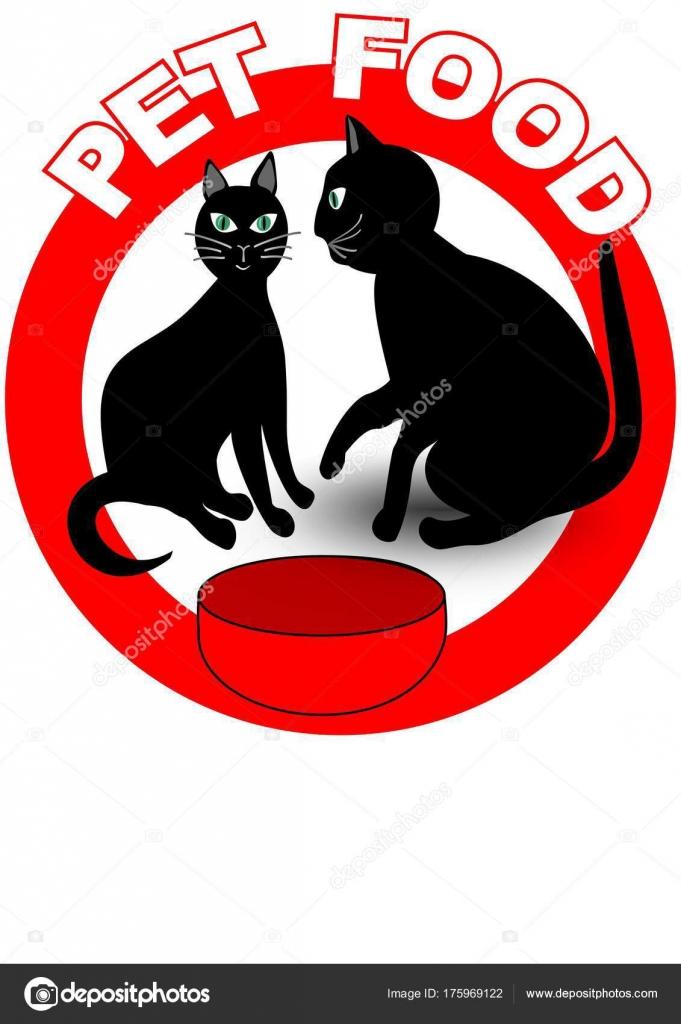 Etichetta Di Cartello O Prodotto Di Alimento Per Animali Domestici
