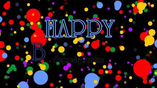 Banniere Joyeux Anniversaire Avec Fond De Confettis Animation Pour