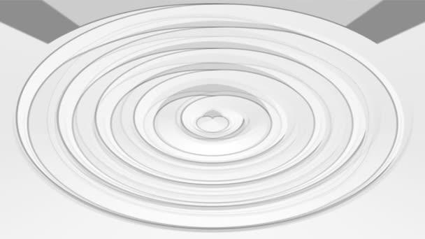 Alacsony kontrasztos animáció, fehér és szürke ovális elem világos szürke háttér. Elegáns semleges háttér