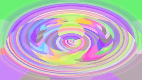 Absztrakt megélénkít video háttér finom pasztell színű, ovális alakú, kiterjesztve a központ szélén, a szép, vidám színek