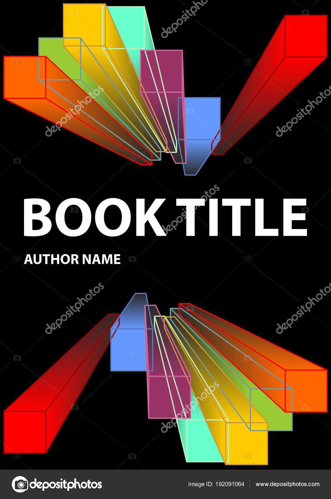 Cubierta de libro negro con formas vivo prisma en los colores del ...