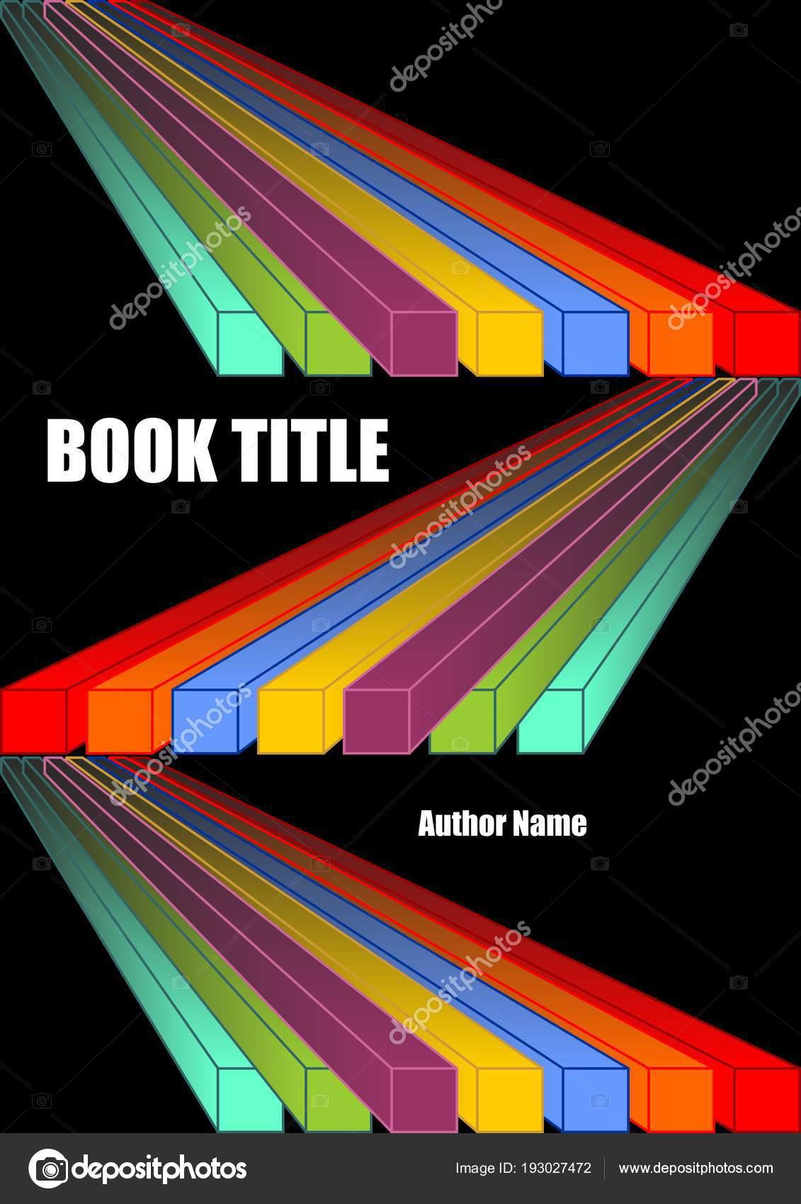 Cubierta de libro negro con formas de diagonales prisma vivo en ...