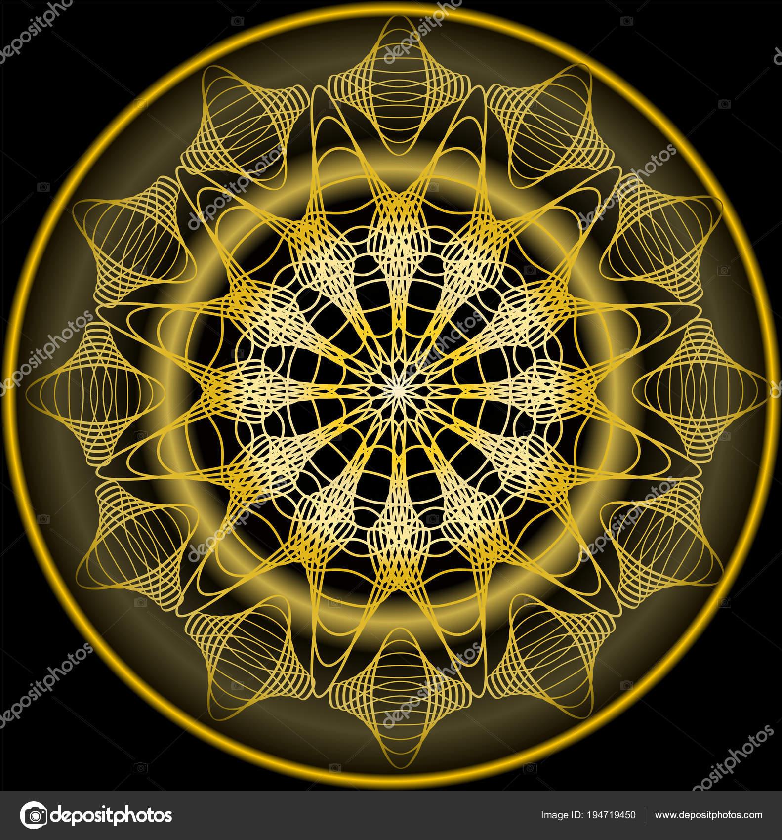 Mandala de oro para la obtención de zen. Patrones de bordado de ...