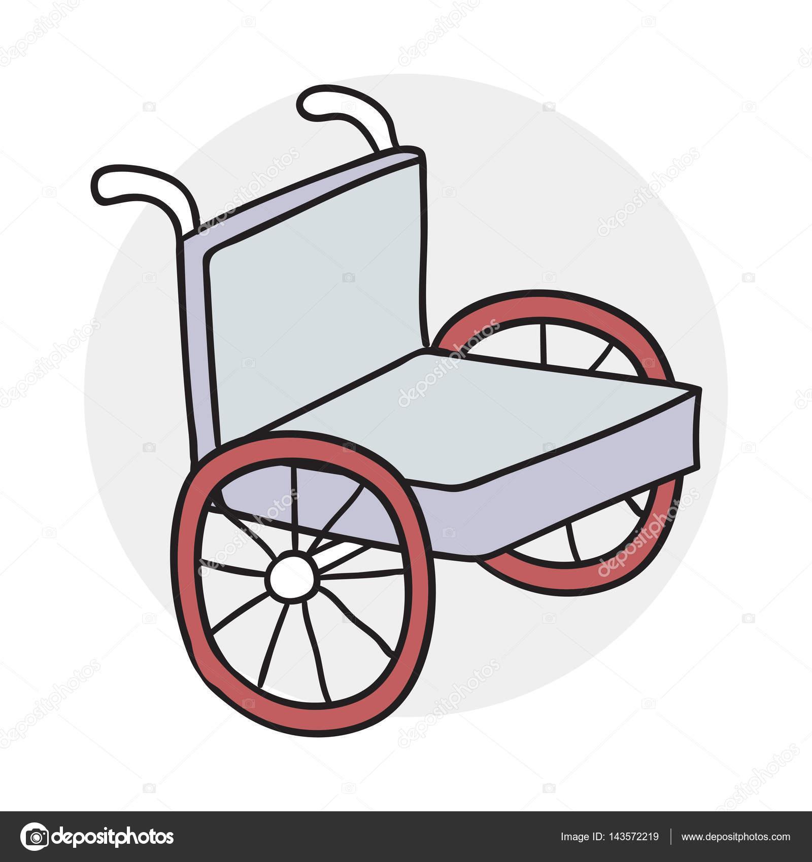 Desenhos Animados De Cone De Cadeira De Rodas Vetor De
