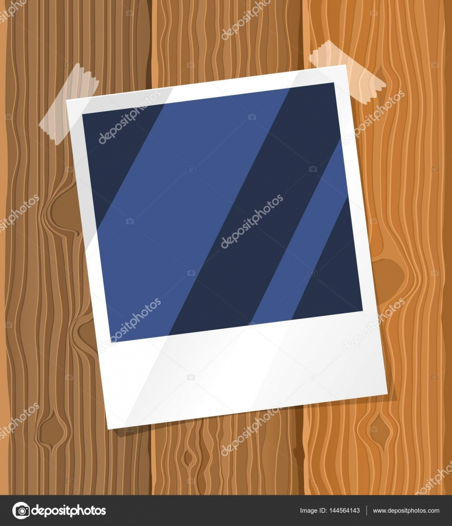 Fotorahmen auf dem Brett — Stockvektor © Evopr #144564143