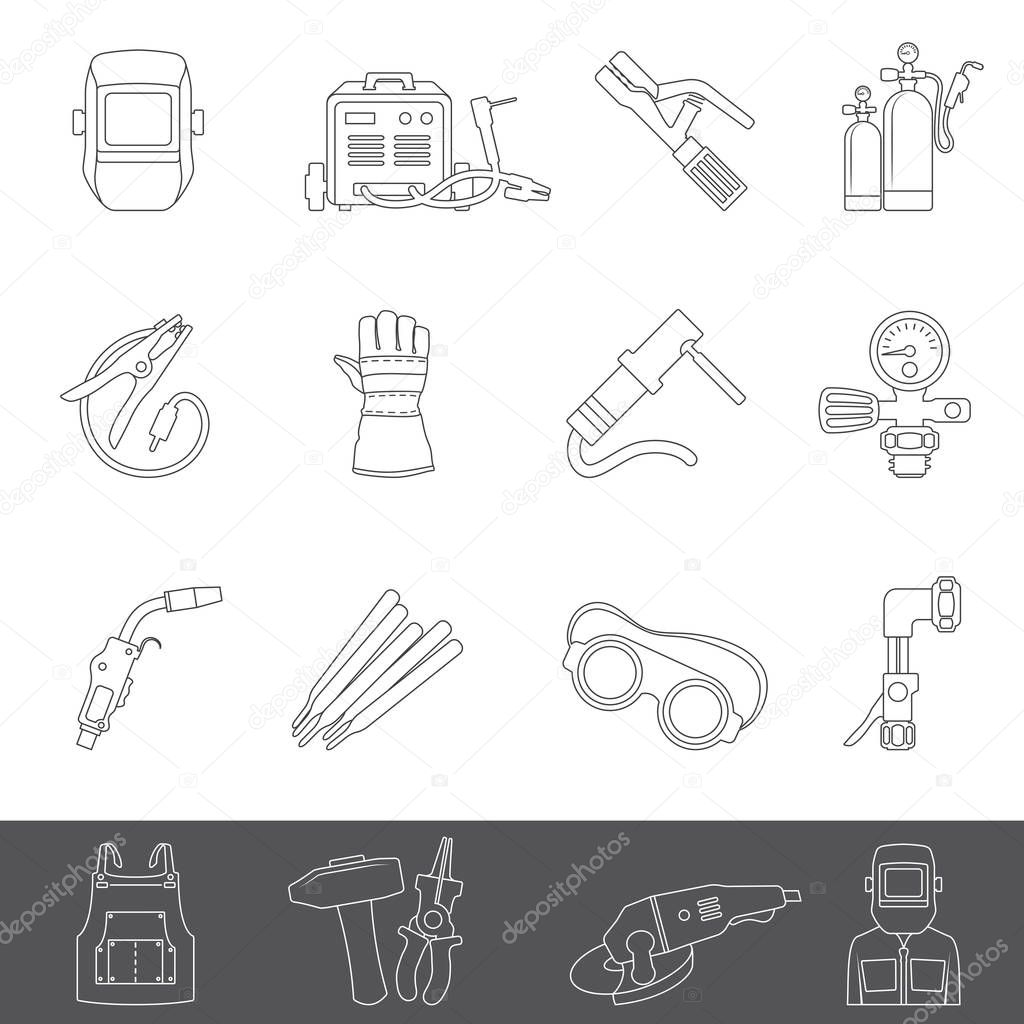 Icons Website Search Over 28444869 Icon Gas Welding Equipment Diagram Line