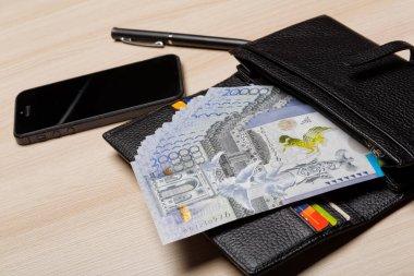 Kazakhstan money tenge national currency 20 000 Tenge banknote