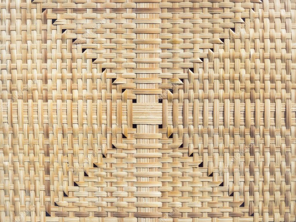 Wicker Oberflache Boden Bambus Matte Textur Handwerk Hintergrund