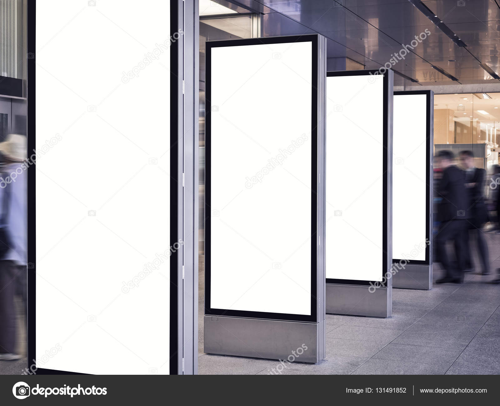 Download Free Mock Up Exhibition Stand : Blank mock up light box set template vertical sign stand
