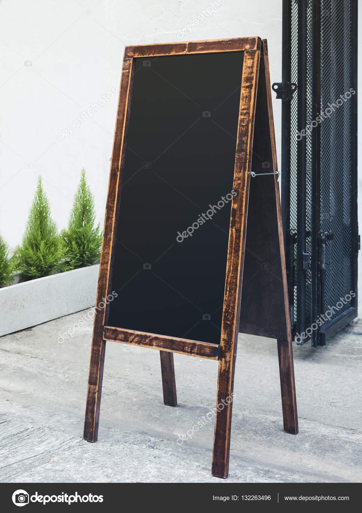 Marco de madera de soporte de pizarra letrero restaurante tienda de ...