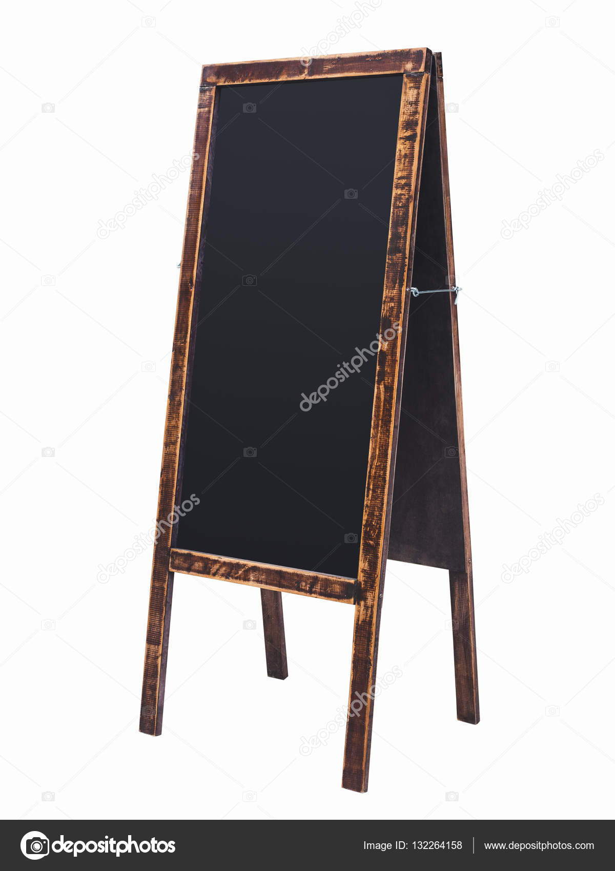 Blackboard Menu stand Wooden Chalk board frame Isolated — Stock ...