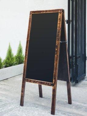 Signboard Stand Chalkboard wooden frame Restaurant Shop Menu