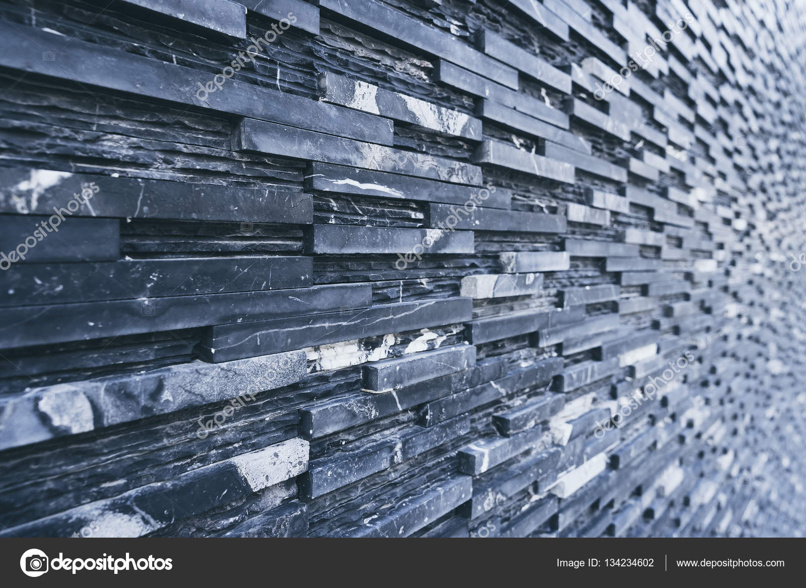 Black slate wall tile Dark background Architecture detail — Stock ...