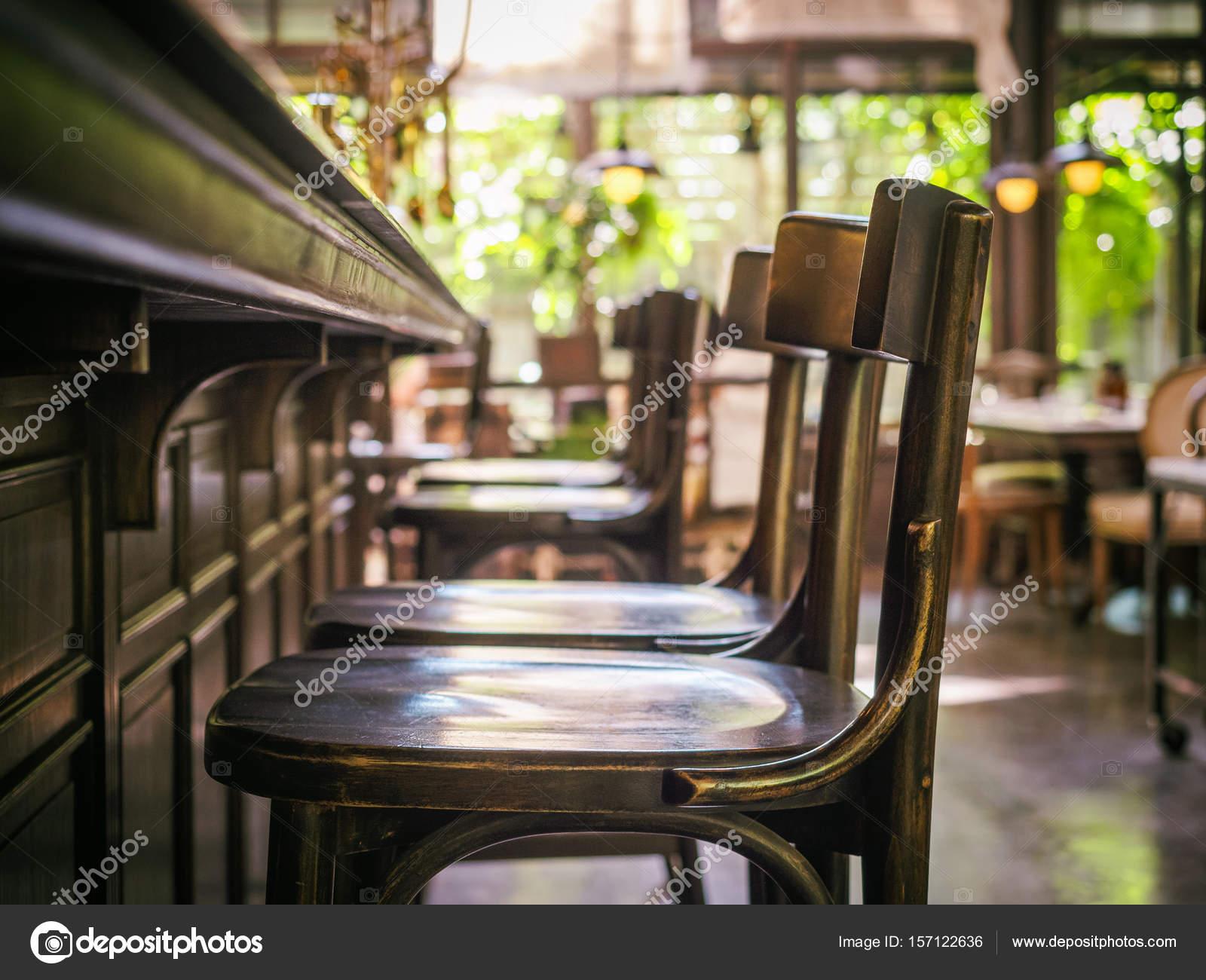 Tresen-Sitzreihe Restaurant Interieur Vintage Stil — Stockfoto ...