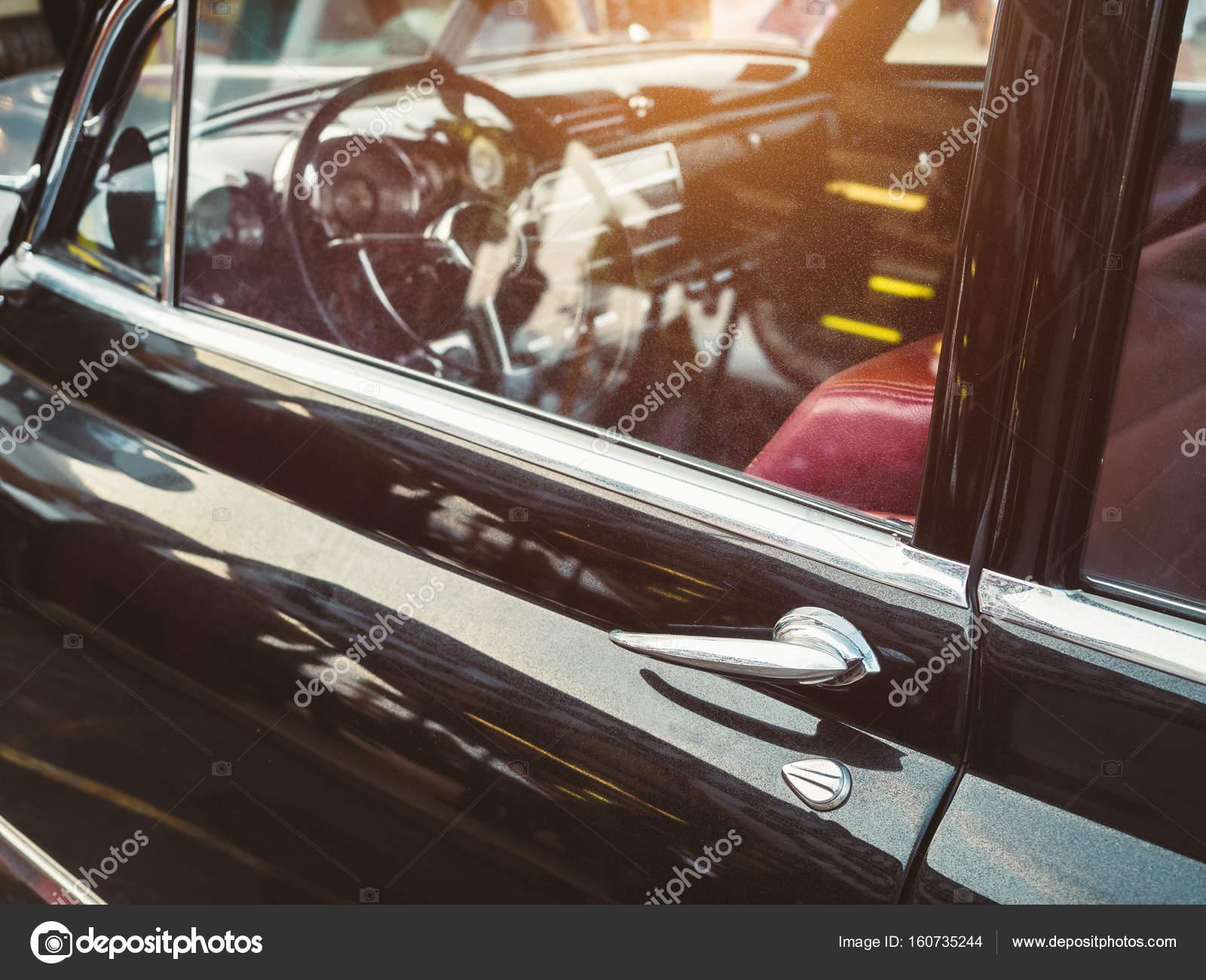 vintage car door handle. Vintage Car Retro Style Door Handle Dashboard \u2014 Stock Photo G