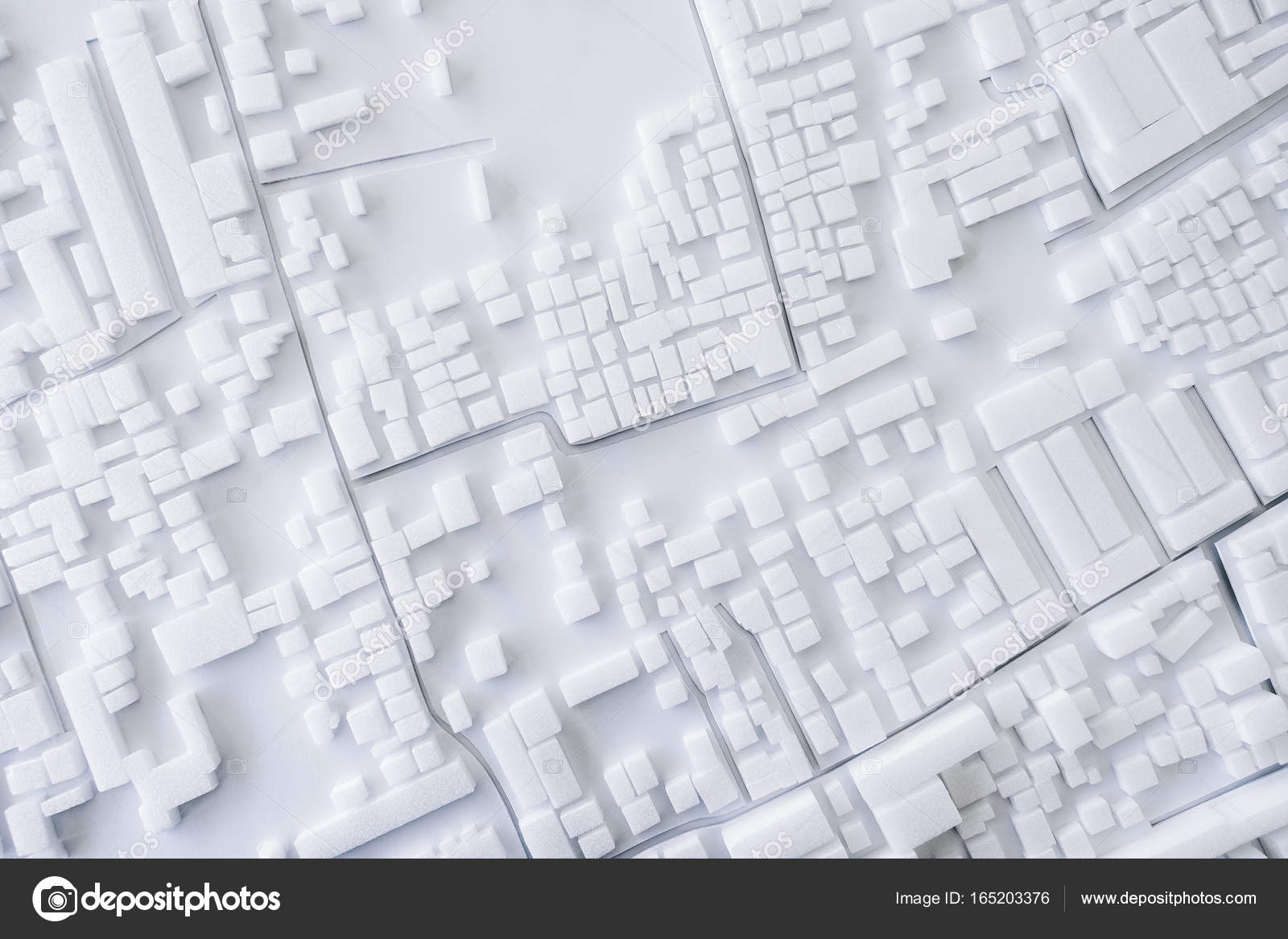 Architektur Modell Urban Stadt Layout Konzept Design Stockfoto