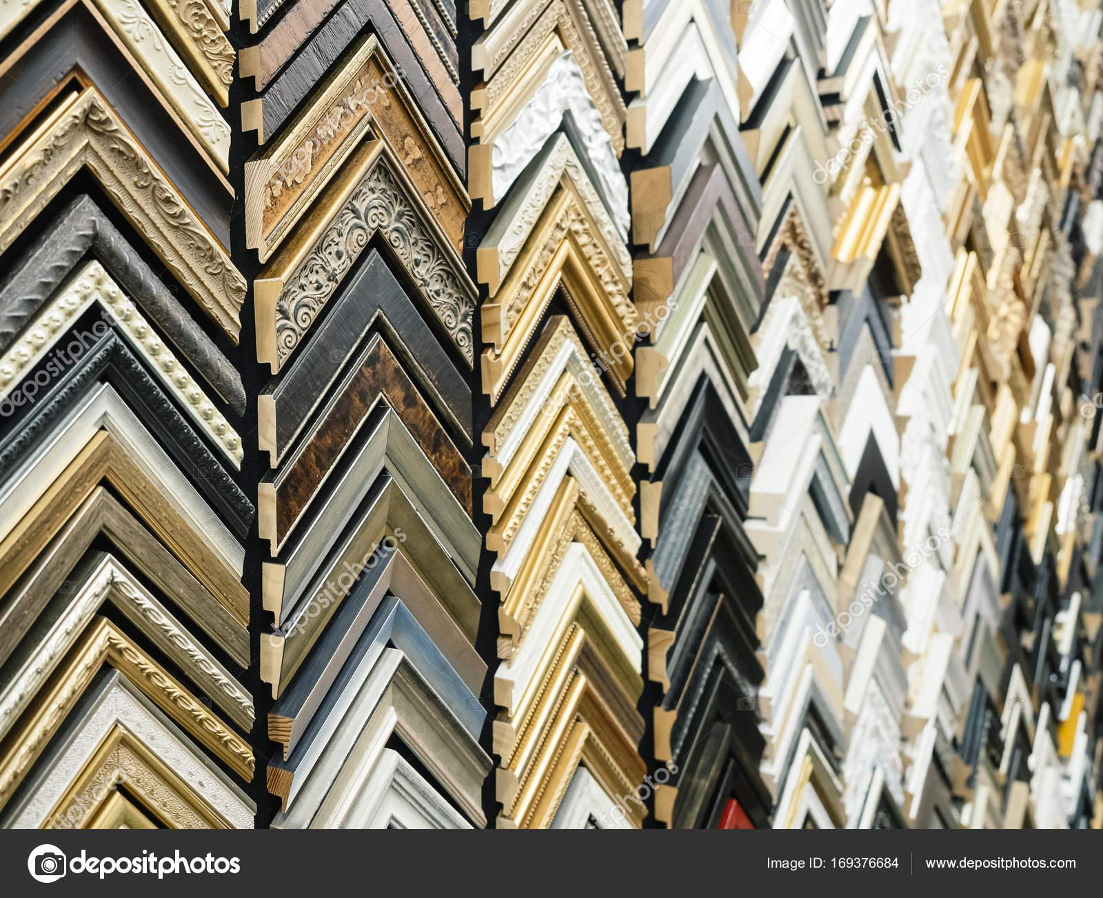 Marco de cuadro de la muestra tienda pantalla vario diseño — Foto de ...