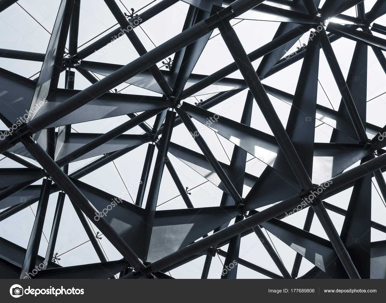 Resumen de arquitectura moderna del edificio de estructura de acero ...