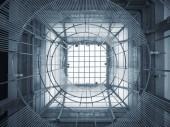Üvegtető mennyezet geometriai minta Modern épület Építészet részlet