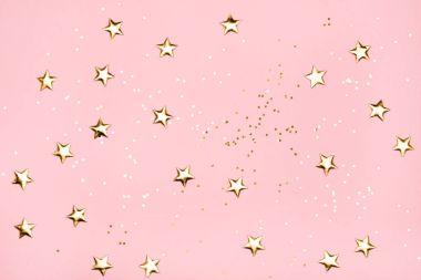 Golden stars glitter