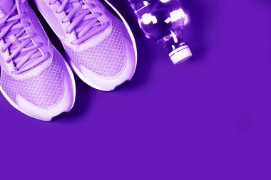 Ultra Violet sneakers and bottle