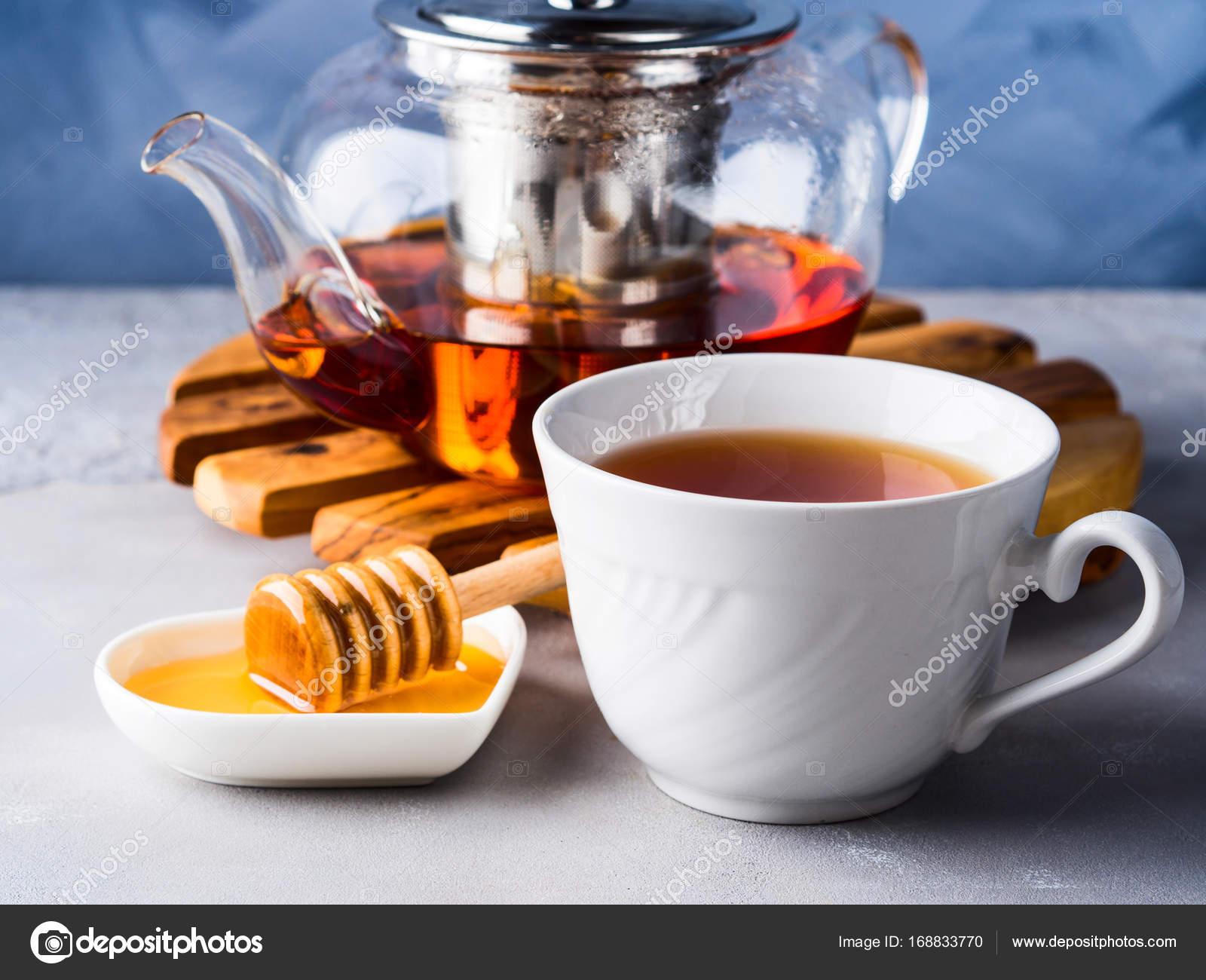 Teekanne Von Roter Tee Und Honig Stockfoto C Tenkende 168833770