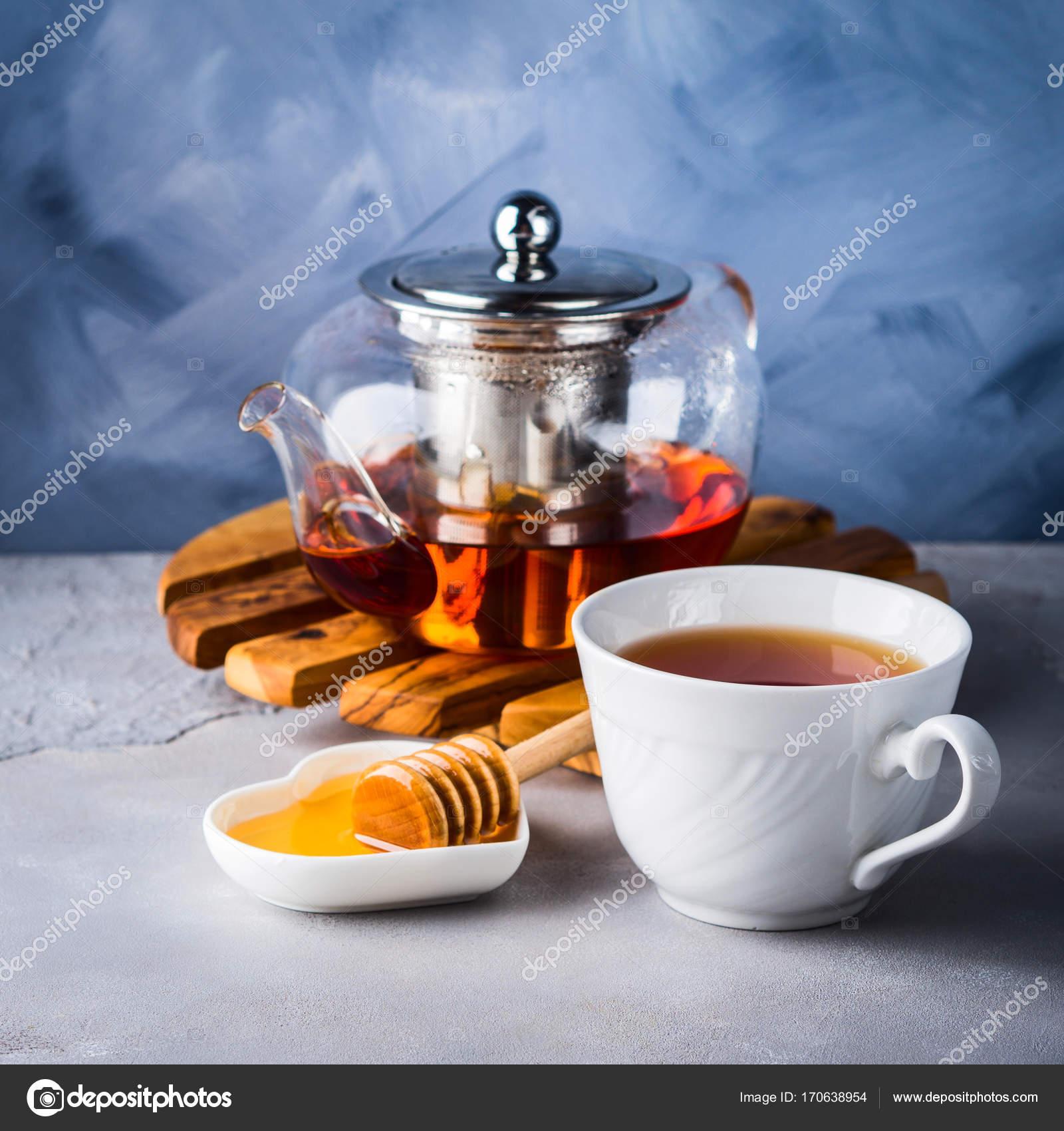 Teekanne Von Roter Tee Und Honig Stockfoto C Tenkende 170638954