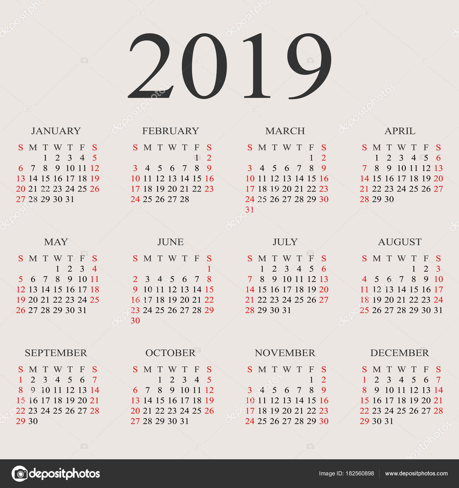 u65e5 u5386 2019  u5e74 u77e2 u91cf u8bbe u8ba1 u6a21 u677f  u56fe u5e93 u77e2 u91cf u56fe u50cf u00a9 forden 182560898 calendar vector png vector calendar month