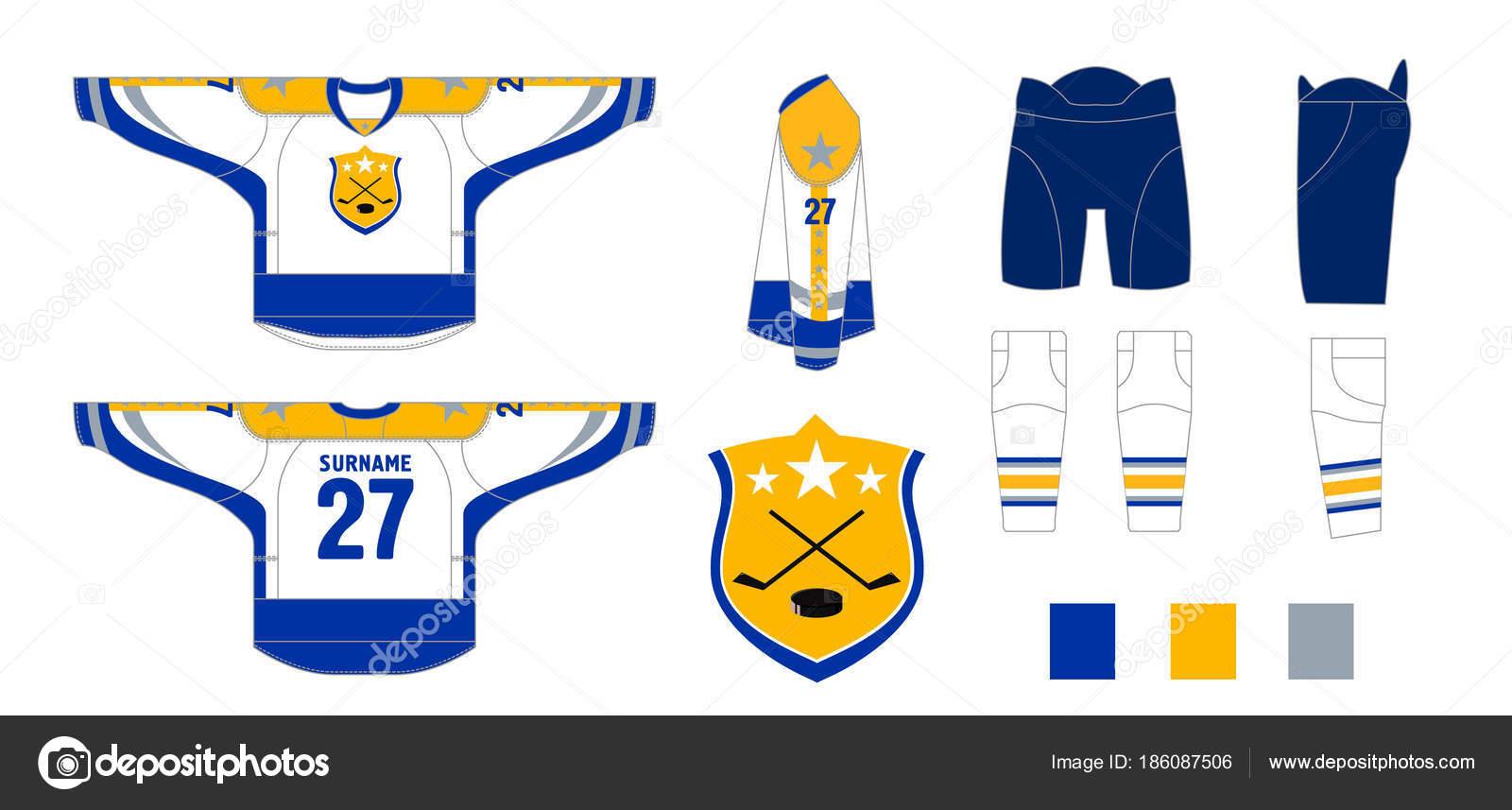 Eishockey-Uniform - Muster schneiden zum Nähen — Stockvektor ...