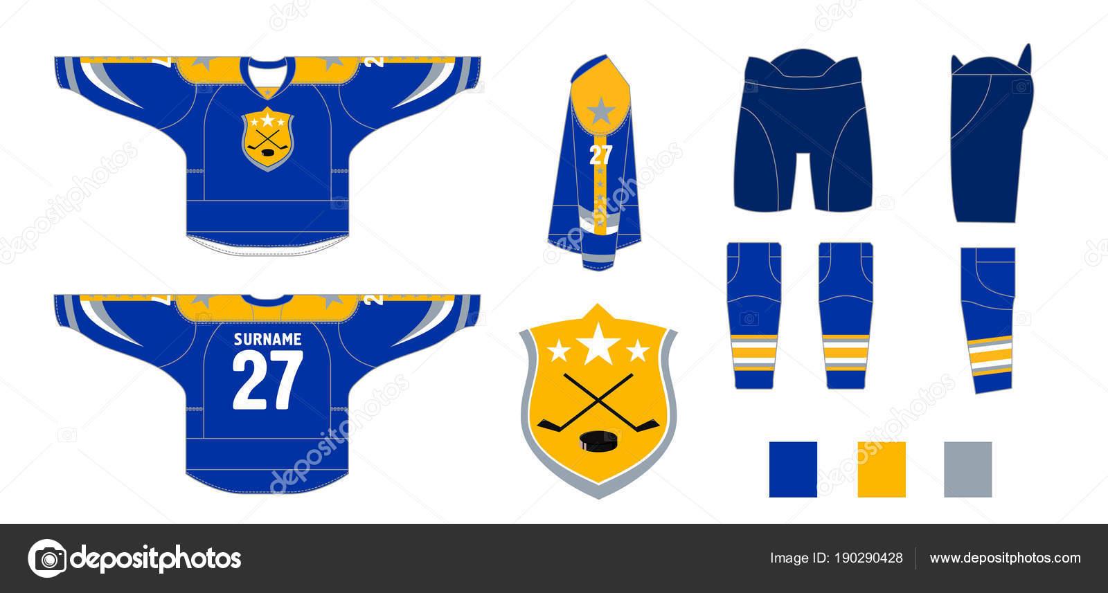 Uniforme de hockey - patrón de corte para costura — Archivo Imágenes ...