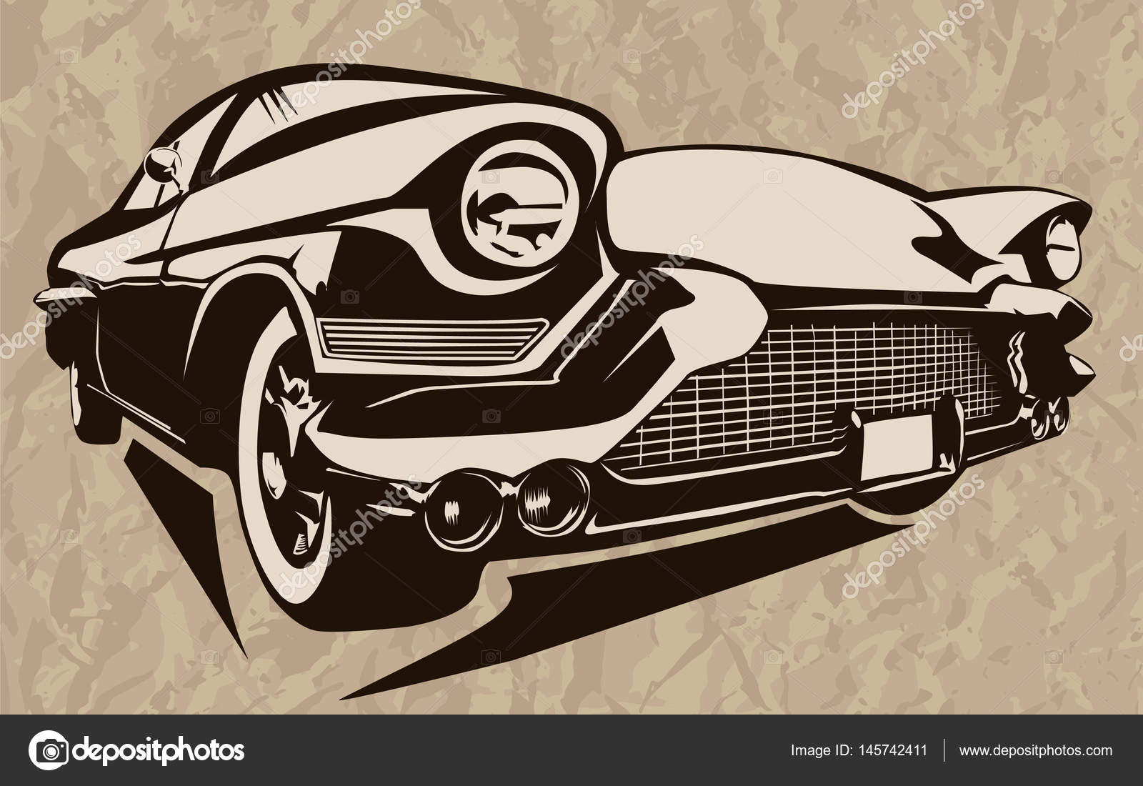 Muscle car abstract vintage sketch 2 — Stock Vector © LIORIKI #145742411