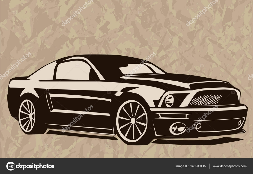 Muscle car abstract sketch old school 1 — Stock Vector © LIORIKI ...