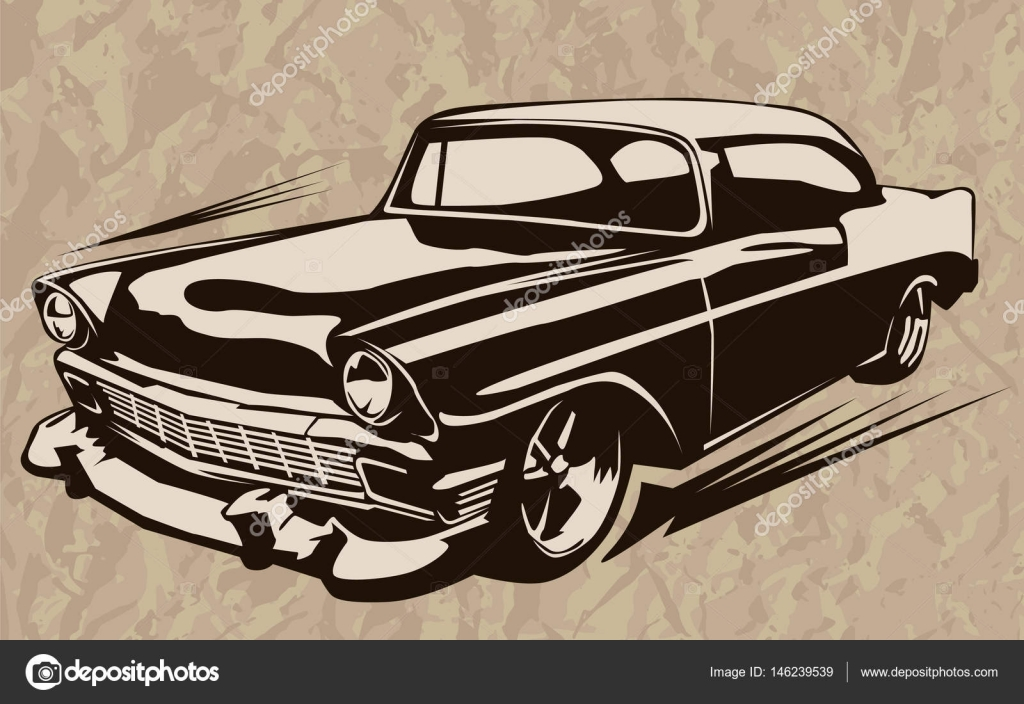 Muscle Car Abstract Vintage Sketch 1 Stock Vector C Lioriki 146239539