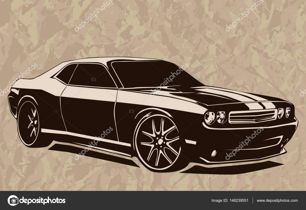 Muscle car abstract sketch old school 2 — Stock Vector © LIORIKI ...