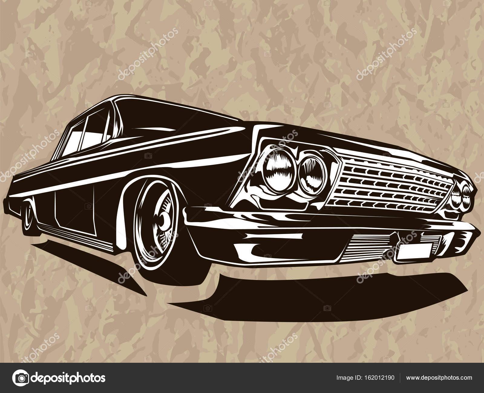 Vintage Muscle Car Logo Stock Vector C Lioriki 162012190