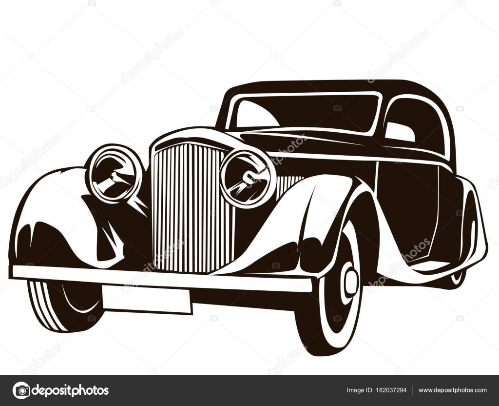 vintage car poster isolated stock vector lioriki 162037294 rh depositphotos com antique car vector antique car vector