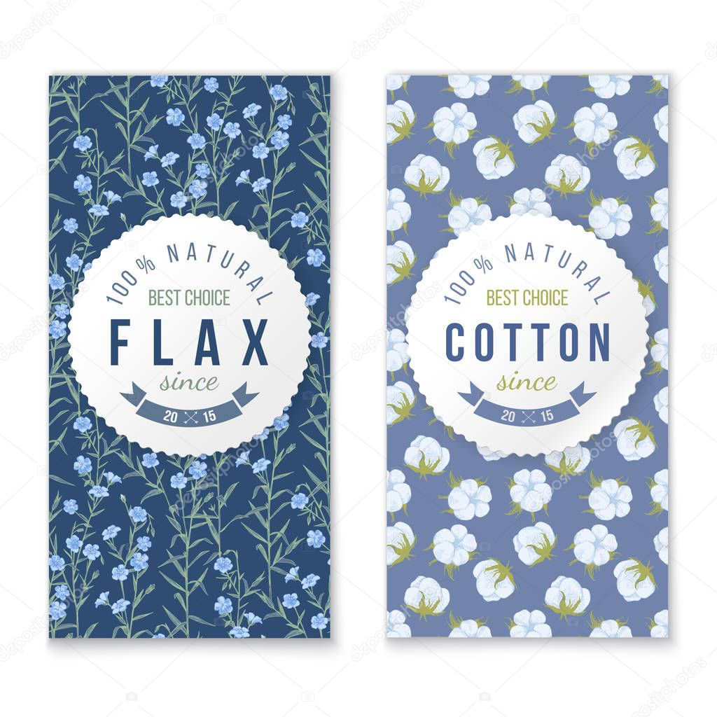 flax and cotton vertical banners