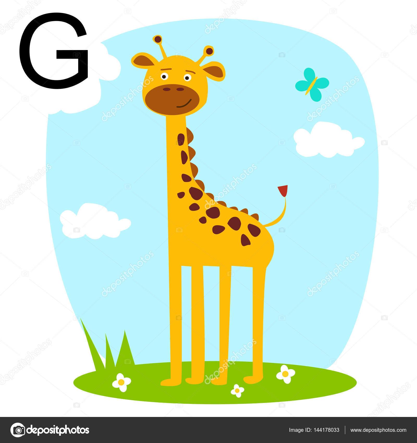 かわいい動物アルファベット abc 本。漫画の動物のベクトル イラスト